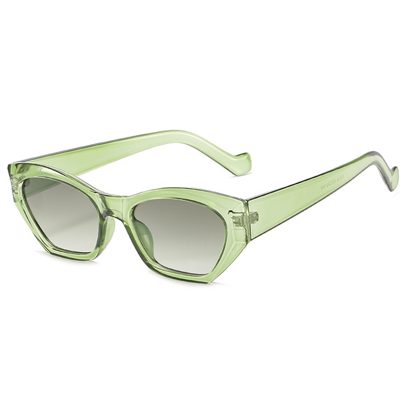 Vintage Small Square Sunglasses Women New Fashion Light Green Retro Sun Glasses Female Cat eye Eyeglasses UV400 Oculos