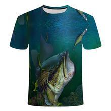 2020 New Men Leisure 3d Printing T Shirt ,Funny Fish Printed Men And Women Tshirt Hip Hop T -Shirt H