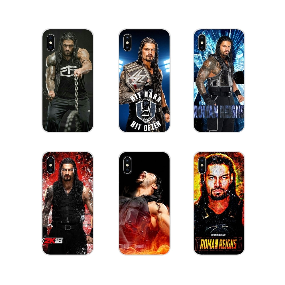 Funda de lujo para teléfono móvil de lucha libre de Roman Reigns para Apple iPhone X XR XS 11Pro MAX 4S 5C SE 6S 7 8 Plus ipod touch 5 6