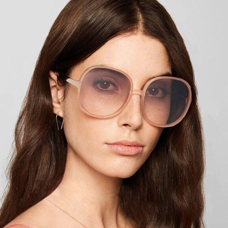 Солнцезащитные очки MYT_0308 женские, классические винтажные круглые солнечные очки в большой оправе, модные роскошные винтажные UV400, для улицы