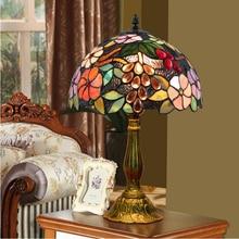 WOERFU Tiffany Tisch Lampe 30cm Trauben Lampshape E27 Schlafzimmer Nacht Lampe Kreative Mode Tisch Lampen