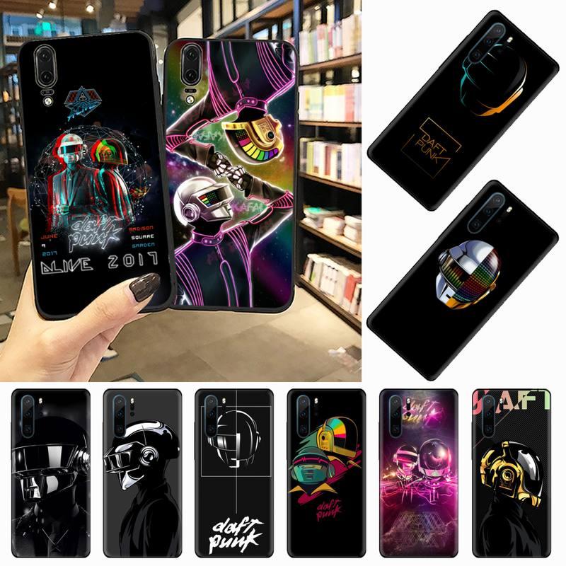 rock music Daft Punk Helmet poster Phone Case For Huawei honor Mate P 9 10 20 30 40 Pro 10i 7 8 a x Lite nova 5t