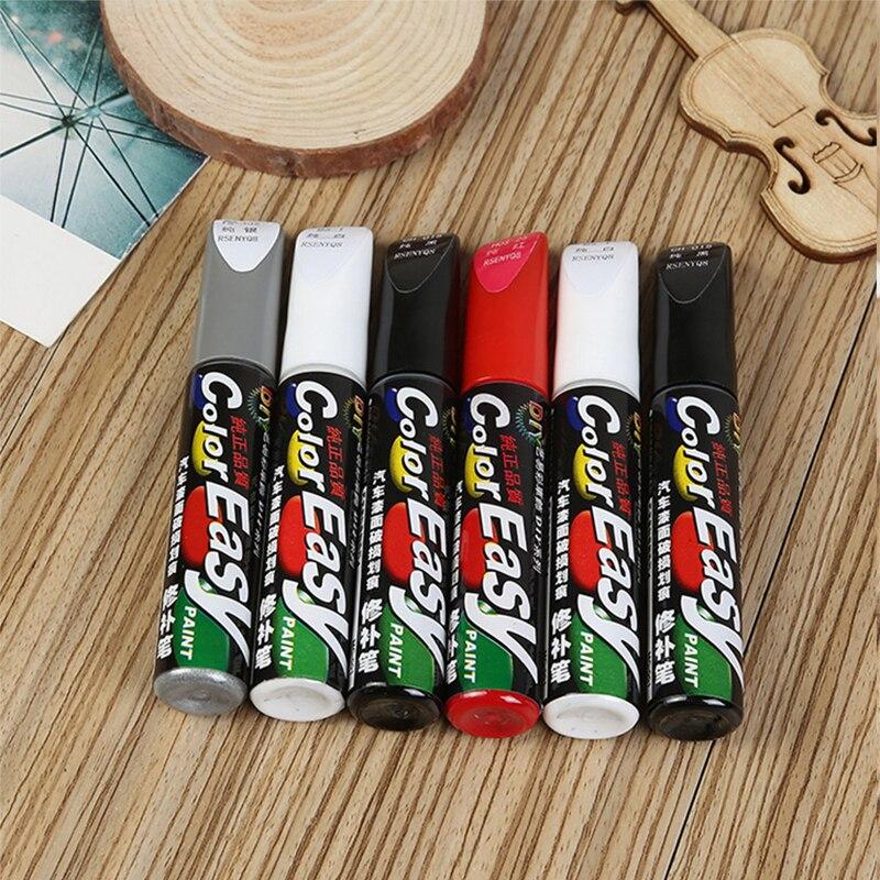 Средство для удаления царапин, профессиональная ручка для ремонта автомобильных красок, белый, красный, черный, серебристый цвета, уход за к...