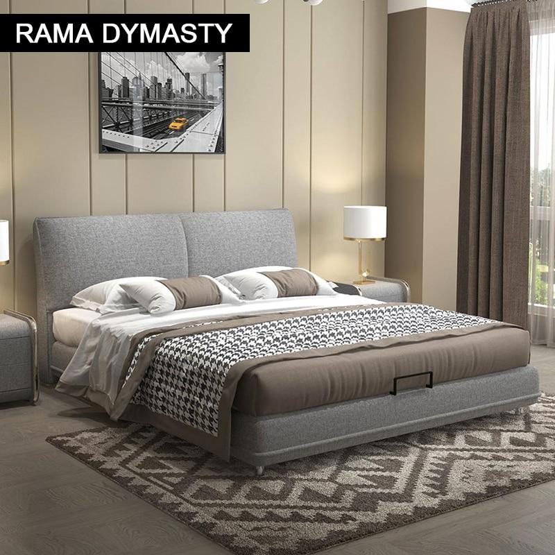 سرير ناعم بتصميم عصري عصري من RAMA DYMASTY ، أثاث غرفة نوم بحجم كينغ/كوين