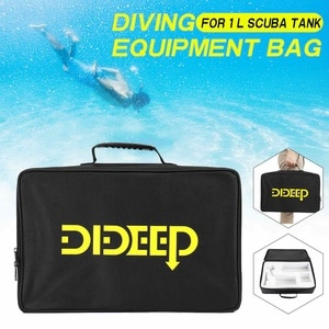 DIDEEP 1L Diving Scuba Storage Bag for 1000ml Air Tank Waterproof Underwater Diving Supplies Handbag Diving Equipment Bag