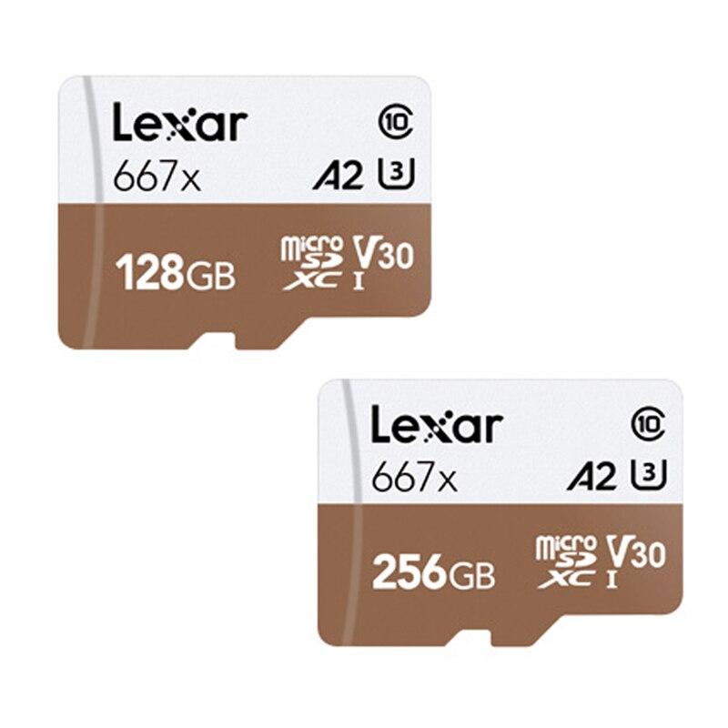 Lexar original cartão de memória até 100 mb/s micro sd cartão 667x classe 10 256 gb cartão 128 gb adaptador livre para zangão esporte filmadora