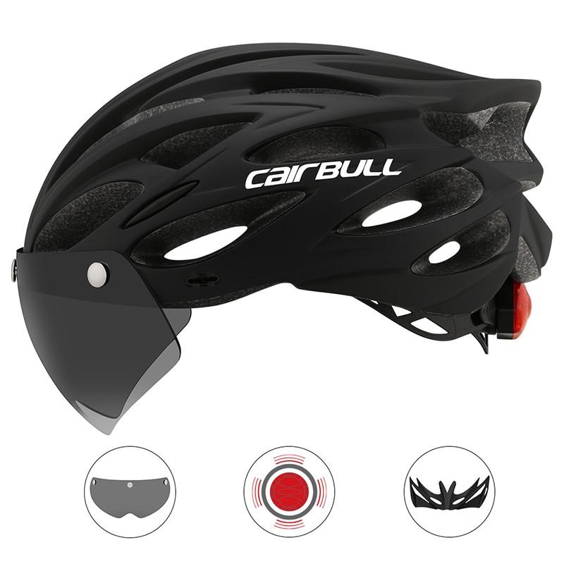 Casco de Ciclismo MTB luz trasera ultraligera casco de Ciclismo Visor montaña carretera Capacete seguridad en bicicleta cascos