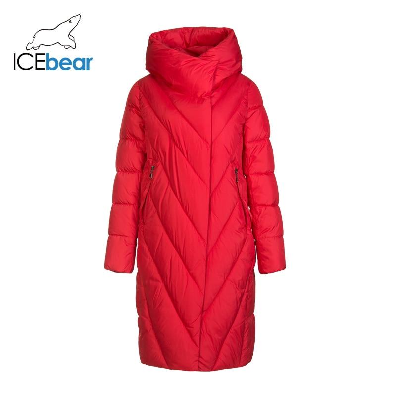 Icebear 2019 novo inverno longo das mulheres para baixo jaqueta moda quente jaqueta feminina marca roupas femininas gwd19149i