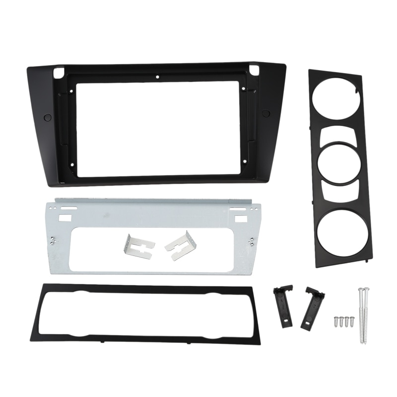 Car Radio Fascia For-BMW E90 E91 9 Inch Stereo DVD Player Dashboard Kit Face Plate