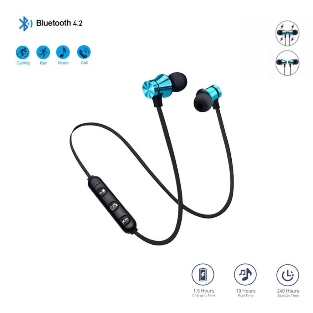 Py 4,2 auriculares Bluetooth estéreo magnéticos deportivos con micrófono HD deporte inalámbrico auriculares para Android IOS