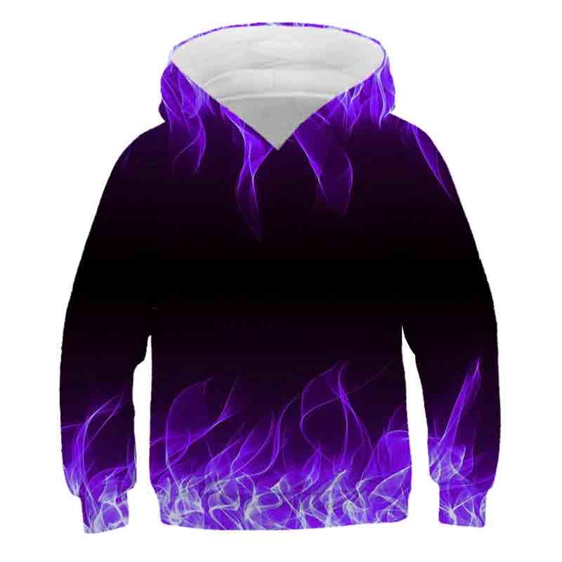 Lo último para primavera flame sweater para niños y niñas suéter con dibujo de llama 3D suéter con capucha casual street