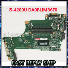 Placa base para portátil TOSHIBA Satellite L50-B, L55-B S50-B S55-B, I5-4200, DA0BLIMB6F0, I5-4200U, notebook, pc, placa base Tablero Principal