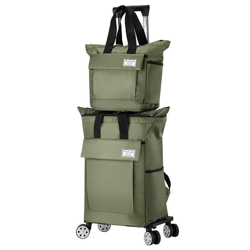حقيبة ظهر مزودة بعربة تروللي جديدة حقيبة سفر الكتف انفصال المحمولة خفيفة الوزن الصعود حقيبة عربة قابلة للطي