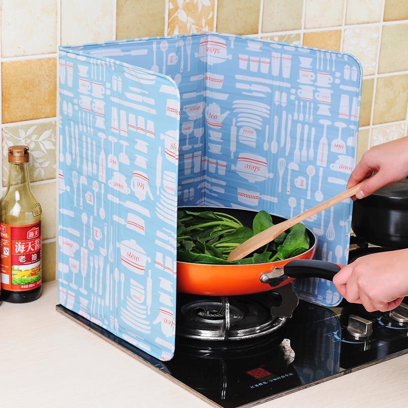 Herramienta de cocina aceite Placa de hoja de aluminio de aceite para cocina salpicaduras de pantalla Anti-aceite de panel de cocina aislar a prueba de salpicaduras deflector J99Stor