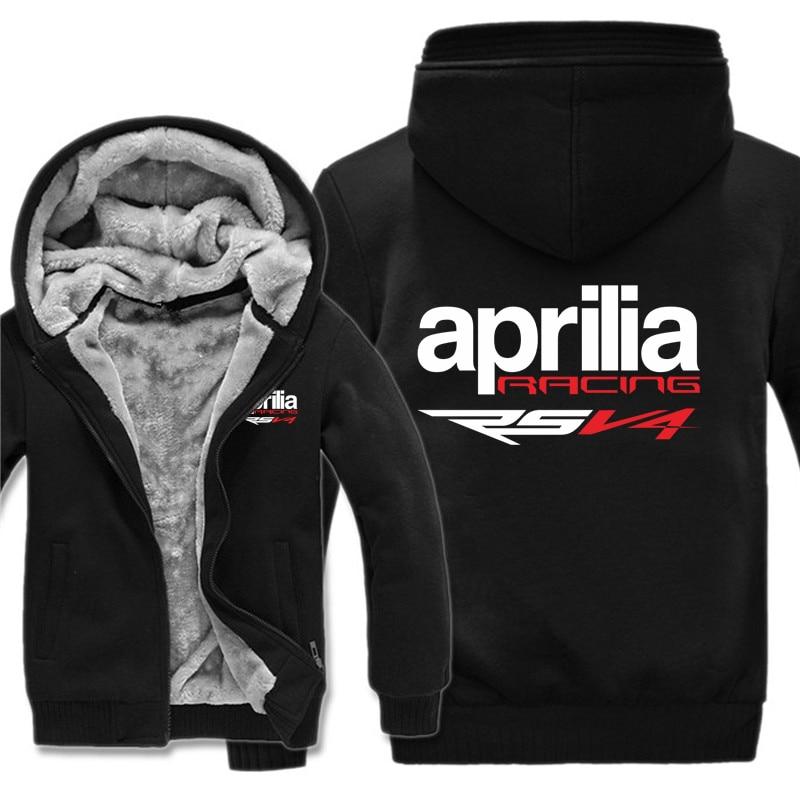 Aprilia racing rsv4 hoodie com capuz inverno masculino engrossar lã quente rsv4 camisolas