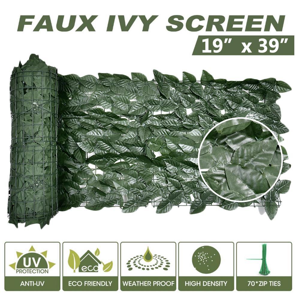 Paneles de privacidad Artificial, seto de plantas topiarias, protección UV, pantalla de privacidad, valla de jardín para decoración de patio interior y exterior