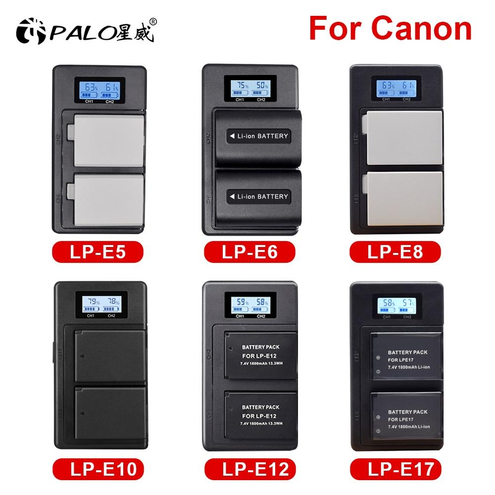 Фото - PALO Digital Camera Battery with Charger For Canon LP-E5 LP-E6 LP-E8 LP-E10 LP-E12 LP-E17 lp e5 lp e6 lp e8 lp e10 lp e12 lp e17 2pc 1500mah lp e10 lp e10 lpe10 rechargeable li ion battery charger set for canon 1100d 1200d kiss x50 x70 rebel t3 t5 camera