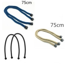 3 pairs hemp rope bag handles for obag handbag