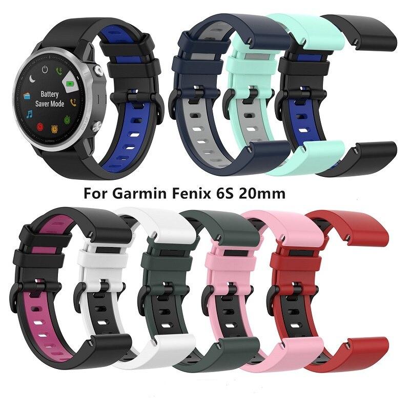 Apto para Garmin Pulseiras de Relógio Pulseiras para Garmin Fenix Mais Bandas 20mm Quickfit Silicone Pulseiras Pro 6s 5s