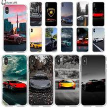 LJHYDFCNB Yellow black red lamborghini beautiful scene  Phone Case for iPhone 11 pro XS MAX 8 7 6 6S Plus X 5 5S SE XR cover