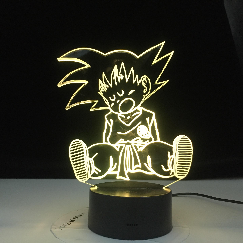 Luz Nocturna colorida con Logo de Naruto Konoha para dormitorio infantil, luz decorativa, lámpara de mesa Led fresca, lámpara de noche para regalo para él
