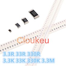 0402 0603 0805 1206 1210 1812 2010 2512 1% 5% Chip De Resistor 3.3R 33R 33 330R 3.3K K 330K 3.3M Ohm