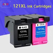 Cartouche dencre 121XL pour hp 121 xl hp121 cartouche dencre pour imprimante hp photosmart C4683 Deskjet D2563 F4283 F2423 F2483 F2493