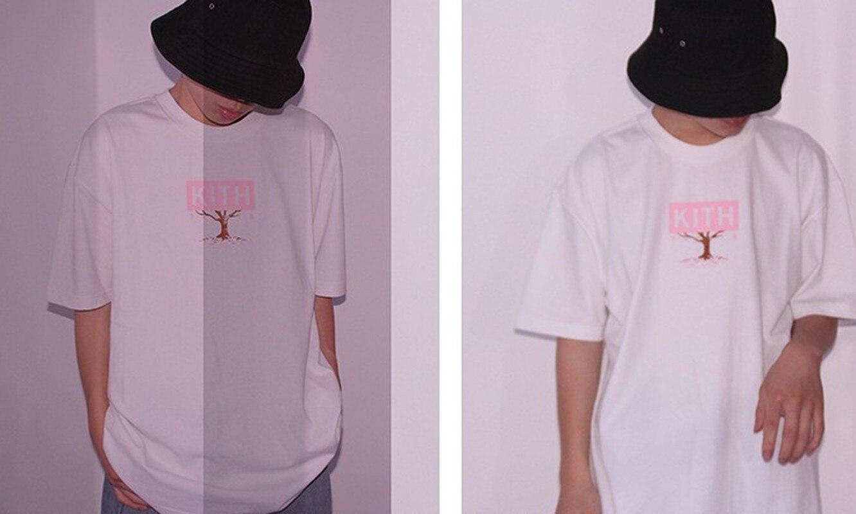 20ss kith camiseta masculina a caixa de hanami logotipo kith topo tees tóquio flor de cerejeira limitada harajuku kith trata camiseta