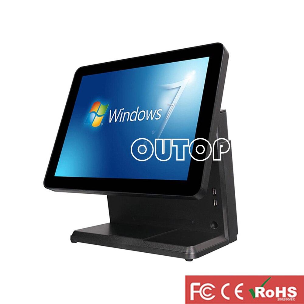 ماكينة تسجيل المدفوعات النقدية شاشة تعمل باللمس نظام pos الكل في واحد آلة أمين الصندوق