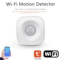 Tuya WiFi PIR capteur de mouvement sans fil detecteur infrarouge securite cambrioleur capteur dalarme adapte a Alexa Google Assistant a la maison