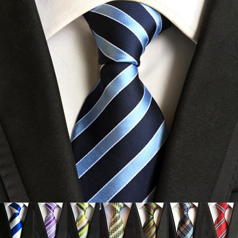 52 Colors Classic 8 Cm Tie for Man 100% Silk Tie Luxury Striped Business Neck Tie Suit Cravat Wedding Party Necktie Men Gift недорого