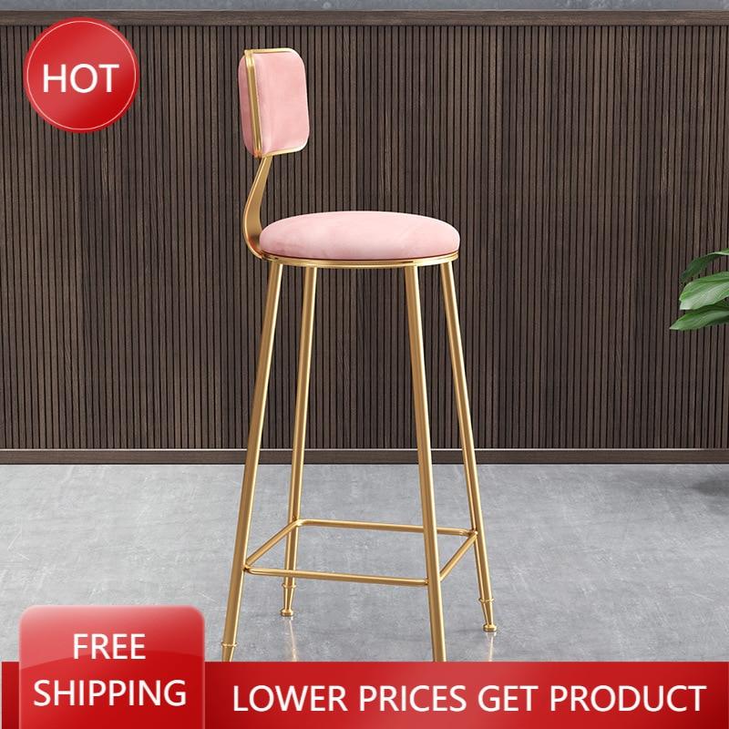 Скандинавские железные барные стулья, минималистичные промышленные Роскошные обеденные стулья, кухонные стулья, золотые высокие стулья ...