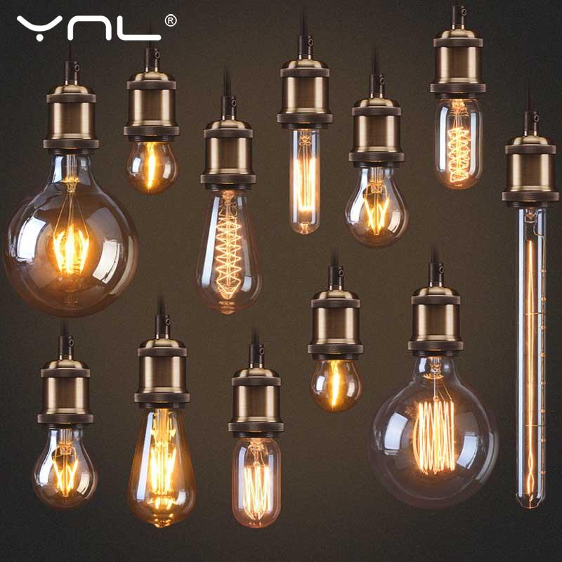 Edison Light Bulb E27 Retro Lamp Ampoule Vintage Edison Lamp Incandescent Light Bulb 40w 220V Filament Lamp Home Vintage Decor