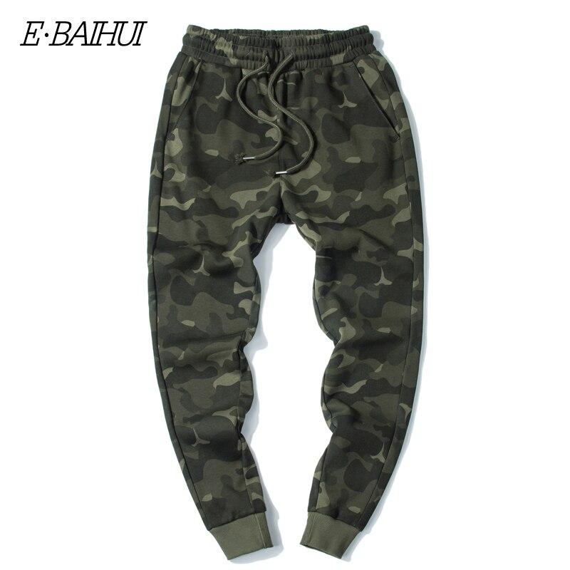 Джоггеры E-BAIHUI мужские камуфляжные, удобные брюки-карго, шаровары в стиле милитари, свободные штаны, камуфляжные джоггеры, MJ002, на осень