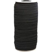 Noir 160 mètres de longueur 1/8 pouces de largeur cordon élastique tressé/bandeau élastique/corde élastique/élastique/blanc élastique en tricot extensible lourd Spo