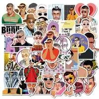 stickers 50pcs puerto rican singer bad bunny bad ruffed rabbit graffiti sticker suitcase computer sticker sticker paper 7