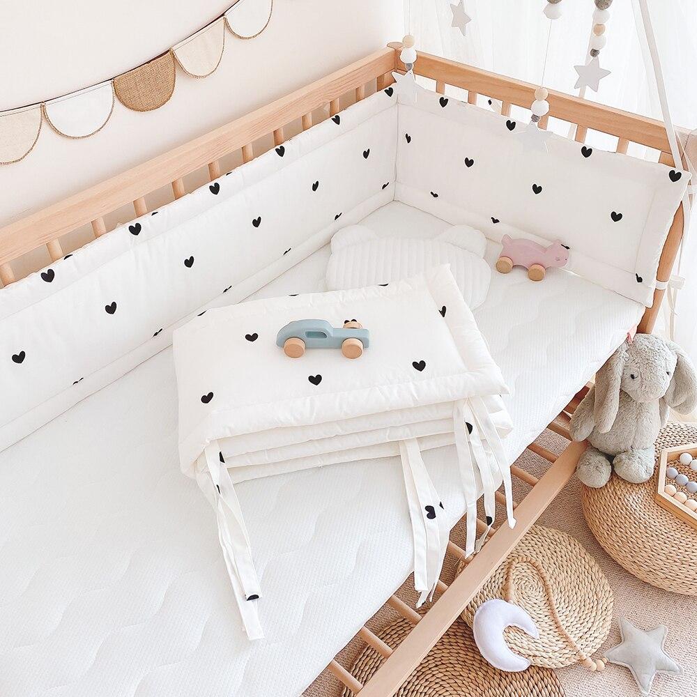 سرير بيبي الوفير القطن قطعة واحدة حديثي الولادة سرير حول وسادة المهد الرضع حامي وسادة المضادة للتصادم سياج غرفة الاطفال ديكور