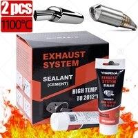 2pcs car exhaust pipe repair glue filler adhesive sealants high temperature motorcycle car auto repair tool paste glue 75g