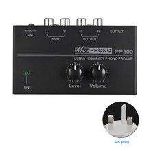 PP500 commandes de Volume Ultra compactes préampli Phono maison platine vinyle Portable phonographe avec préamplificateur de niveau Audio stéréo en métal