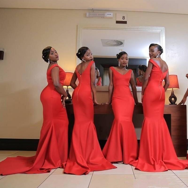 YiMinpwp оранжевое платье подружки невесты с v-образным вырезом и открытой спиной, платье подружки невесты с коротким шлейфом и бантом, недорогое платье подружки невесты