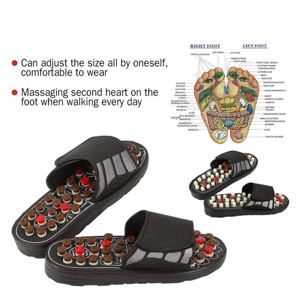 Zapatillas de masaje Unisex, sandalia para hombres y mujeres, zapatillas de salud para pies, pedicura de masaje, zapatos de salud, zapatillas ajustables para el cuidado de los pies