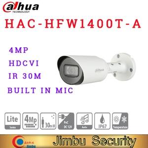 Dahua original version 4MP HDCVI POC IR Bullet Camera HAC-HFW1400T-A Built-in mic HD and SD output switchable smart IR 30M