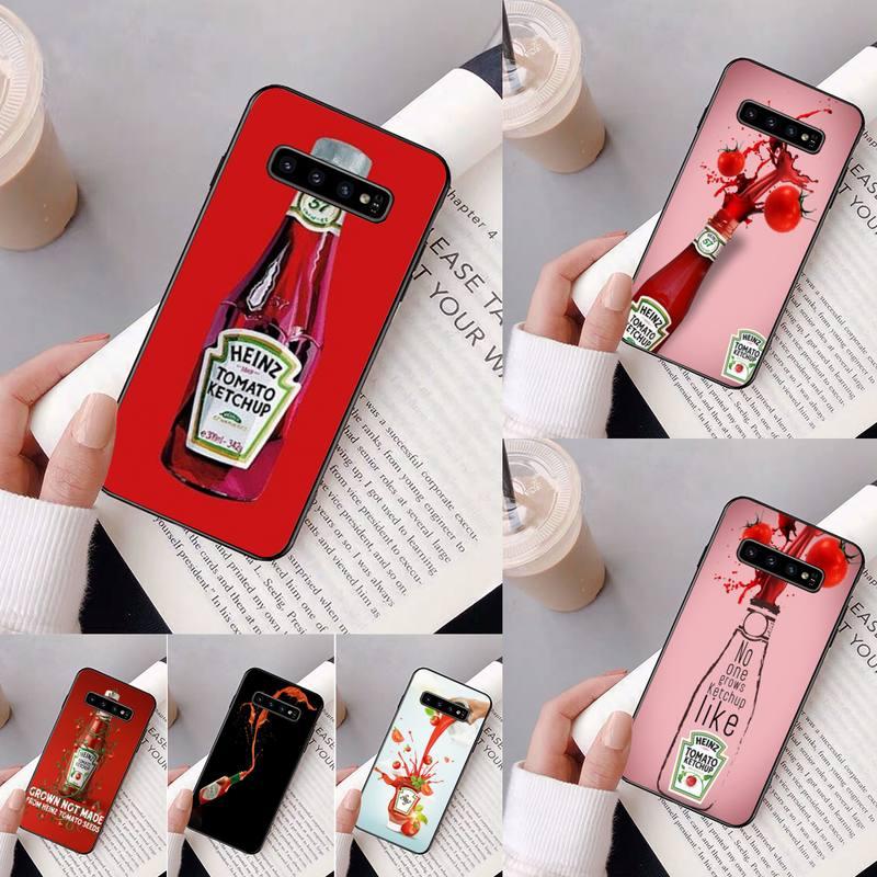 Ketchup Heinz Yinuoda Caixa Do Telefone Para Samsung Galaxy A50 A30 A71 A40 S10E A60 A50s A30s Nota 8 9 S10 Plus S10 S20 S8