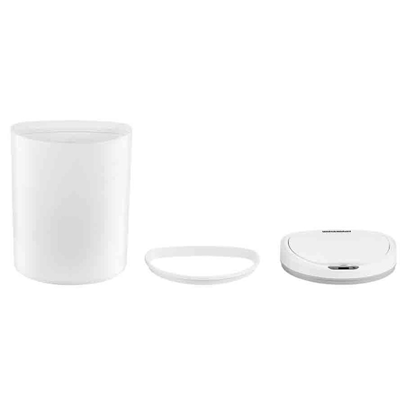 Smart Sensor Trash Can Trash Can Toilet Office Dustbin Waste Bin For Bathroom With Lid White Garbage Can For Bedroom enlarge