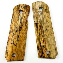 2 pièces 1911 poignées en bois dérable spalté naturel poignées Patch poignées personnalisées CNC poignées