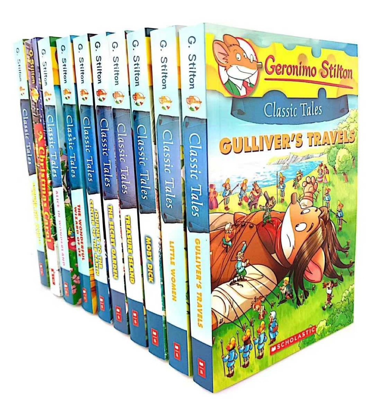 10PCS/SET Geronimo Stilton New Arrival Around the World Children Picture Reading Book Classic Tales English Comic Story