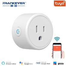 FrankEver Mini US Wifi 플러그 (서지 보호기 포함) 110-240V 음성 제어 스마트 소켓 Alexa Google Home Tuya APP