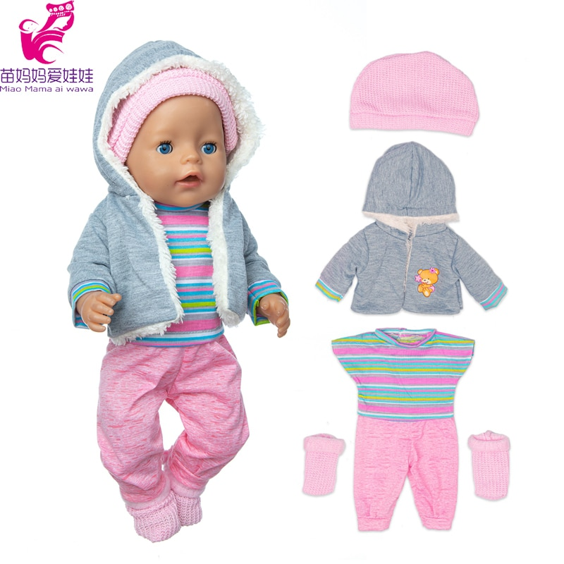 clothes for baby born dolls winter fur cloak coat windbreaker clothes for 18 inch doll outwear sets girl christmas dress 43cm Baby Doll Clothes Coat for 17 inch Dolls Outwear Winter Jacket Toys Doll Outfits