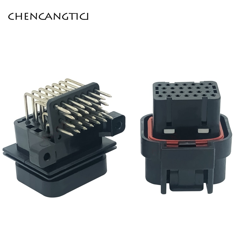 1 conjunto te amp superseal 26 pinos maneira 1mm selado automóvel fêmea macho pwb computador conector ecu plugue 3-1437290-8 6437288-4