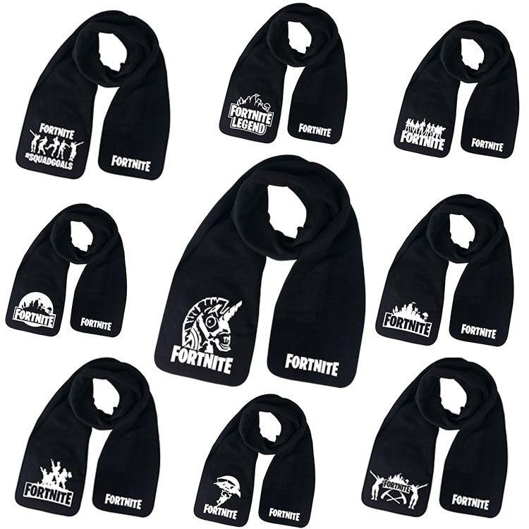 Nueva bufanda cálida coreana tejida a la moda para otoño e invierno, bufanda para niños, chal salvaje, Fortnites, babero de algodón, juego de dibujos animados, regalo para niños